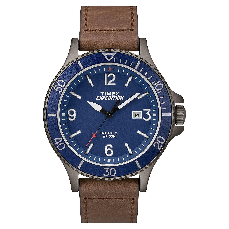 Timex-Expedition-TW4B10700-Herren-Outdooruhr-in-Blau-Grau-Braun-mit-Drehluenette