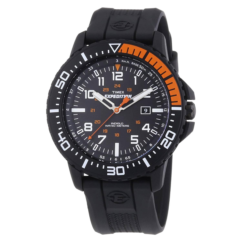 Timex-Expedition-Uplander-T49940-schwarze-Herrenuhr-mit-Resin-Armband-und-Kunststoffgehaeuse