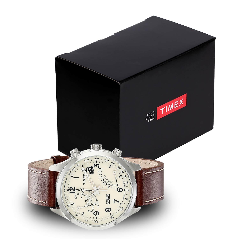 timex intelligent flyback t2n932d7 chronograph mit lederarmband. Black Bedroom Furniture Sets. Home Design Ideas