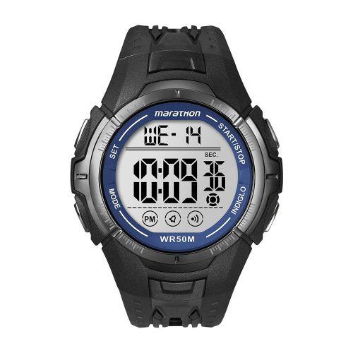 Timex-Marathon-T5K359-schwarze-Digital-Sportuhr-Maenner-Kautschukarmband