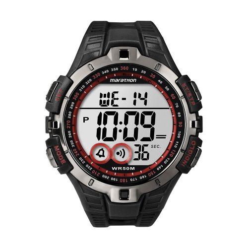 Timex-Marathon-T5K423-sportliche-Digitaluhr-in-Schwarz-mit-Chronograph-und-Quarzuhrwerk