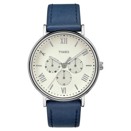 Timex-Southview-TW2R29200-Herrenuhr-mit-blauem-Lederband-und-echtem-Mineralglas