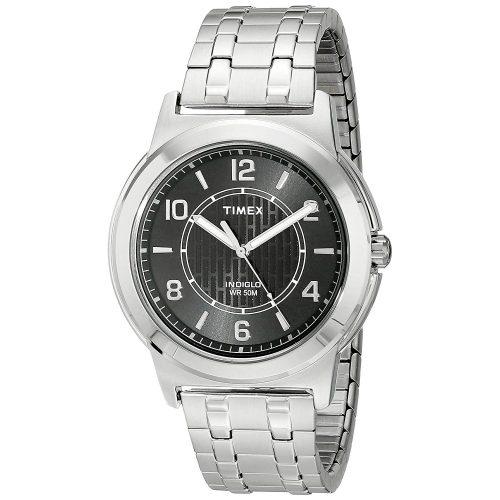 Timex-Street-TW2P61800-Herrenuhr-aus-Edelstahl-in-Silber-mit-Gliederarmband-und-Mineralglas