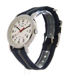 Timex-T2N654-Weekender-Special-Herrenuhr-mit-Nato-Armband-Blau-Grau