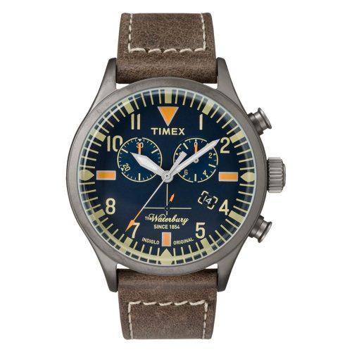 Timex-Waterbury-TW2P84100-Herren-Chronograph-mit-kratzfestem-Uhrenglas