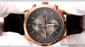 Wasserdichte-Hilfiger-Armbanduhr-mit-Chronographen-Funktion