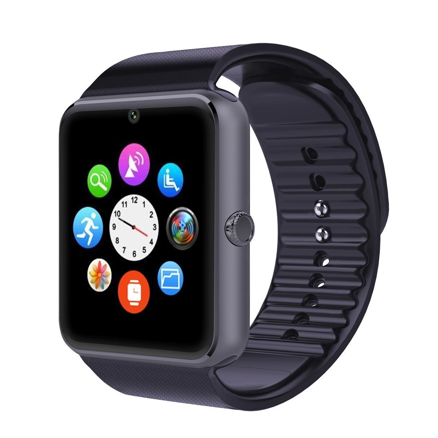 yamay smartwatch mit fitness tracker und schlaf berwachung herrenuhren armbanduhren f r m nner. Black Bedroom Furniture Sets. Home Design Ideas