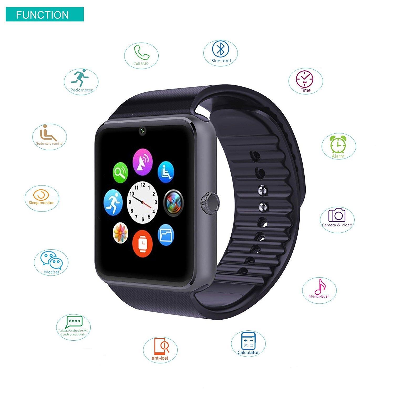 yamay smartwatch mit fitness tracker und schlaf berwachung. Black Bedroom Furniture Sets. Home Design Ideas