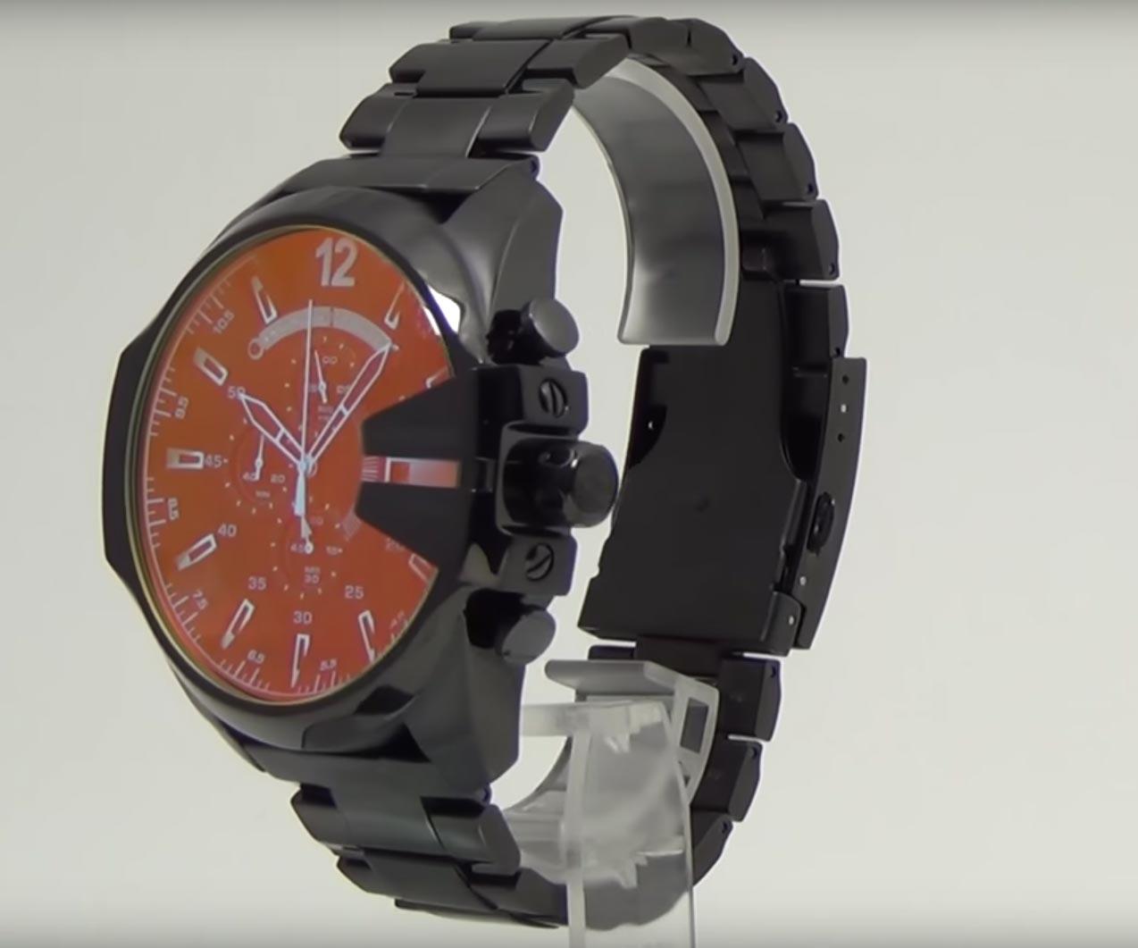 diesel dz4323 herrenuhr chronograph mit irisierendem. Black Bedroom Furniture Sets. Home Design Ideas