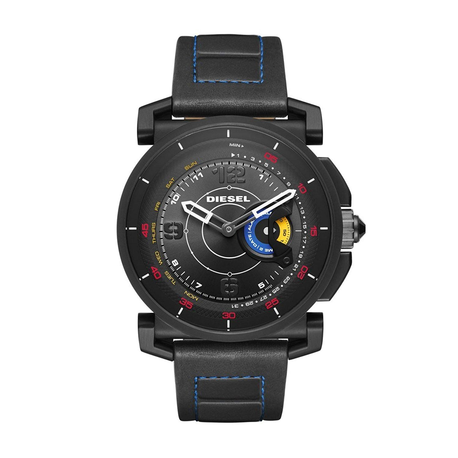 diesel dzt1000 hybrid smartwatch wasserdichte hybriduhr mit lederarmband herrenuhren. Black Bedroom Furniture Sets. Home Design Ideas