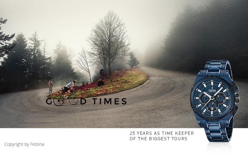 Festina Tourchrono 2016 blauer Chronograph aus Edelstahl
