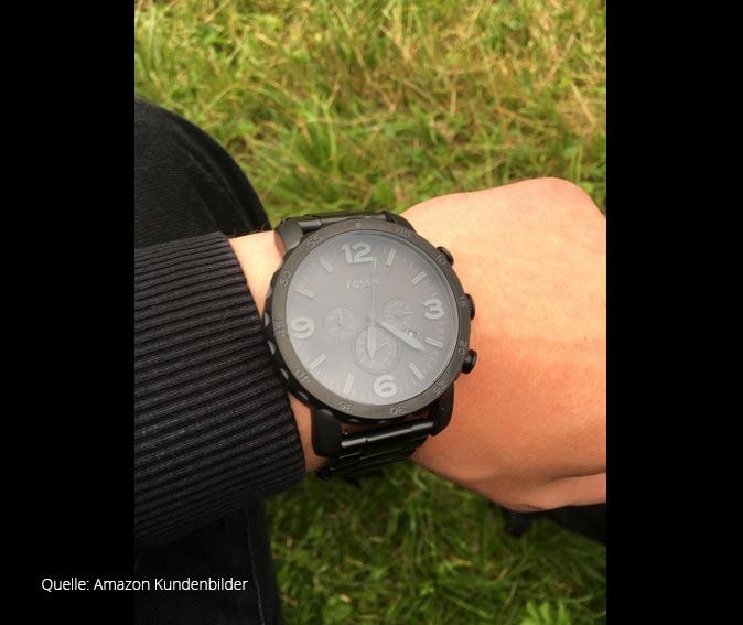 fossil herrenuhr jr1401 sport chronograph aus edelstahl. Black Bedroom Furniture Sets. Home Design Ideas