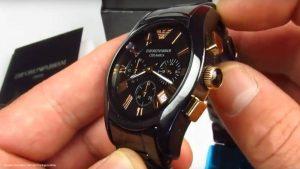 Emporio-Armani-AR1410-Chronograph-in-Schwarz-und-Rose-Gold