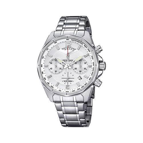 Festina-Herren-Armbanduhr-F6835-1-in-Weiss-Silber