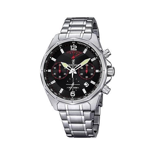 Festina-Herren-Armbanduhr-F6835-2-in-Schwarz-Rot-Silber