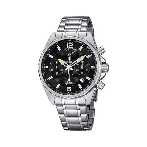 Festina-Herren-Armbanduhr-F6835-4-in-Schwarz-Silber
