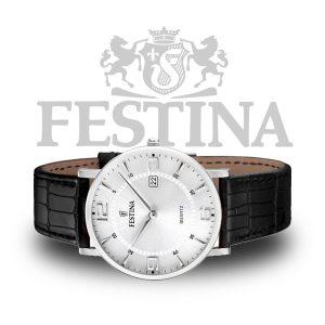 Festina-Herrenuhr-F16476-3-Schwarz-Silber