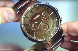 Fossil-Dress-FS4357-Herrenuhr-in-Braun-Gold