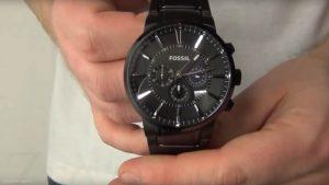 Fossil-Dress-FS4778-Chronograph-in-Schwarz-und-Silber