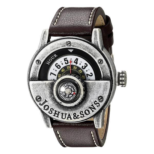 outdoor-uhr-joshua-and-sons-mit-kompass-analog