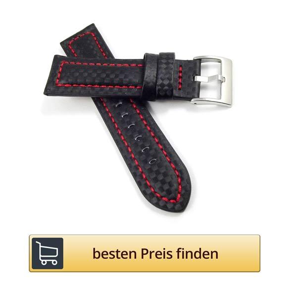 schwarzes-uhrenarmband-leder-rote-naehte
