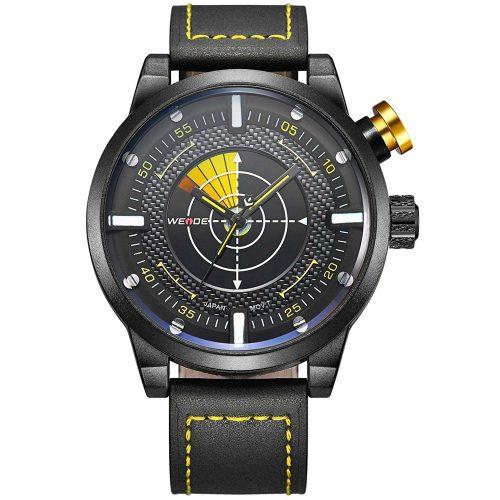 Alienwork-Oversized-XXL-Armbanduhr-OS.WH-5201-4-mit-Echtlederarmband