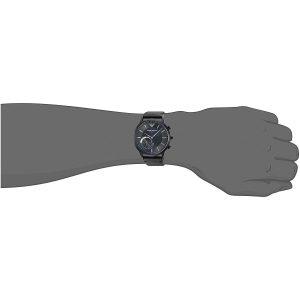 Armani-Herren-Hybrid-Uhr-mit-echtem-Lederarmband