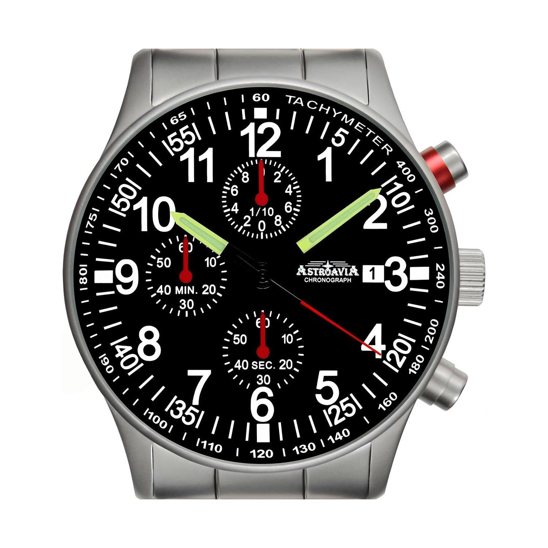 Astroavia-Fliegeruhr-N97S-guenstiger-Chronograph-Edelstahl-Armband-1