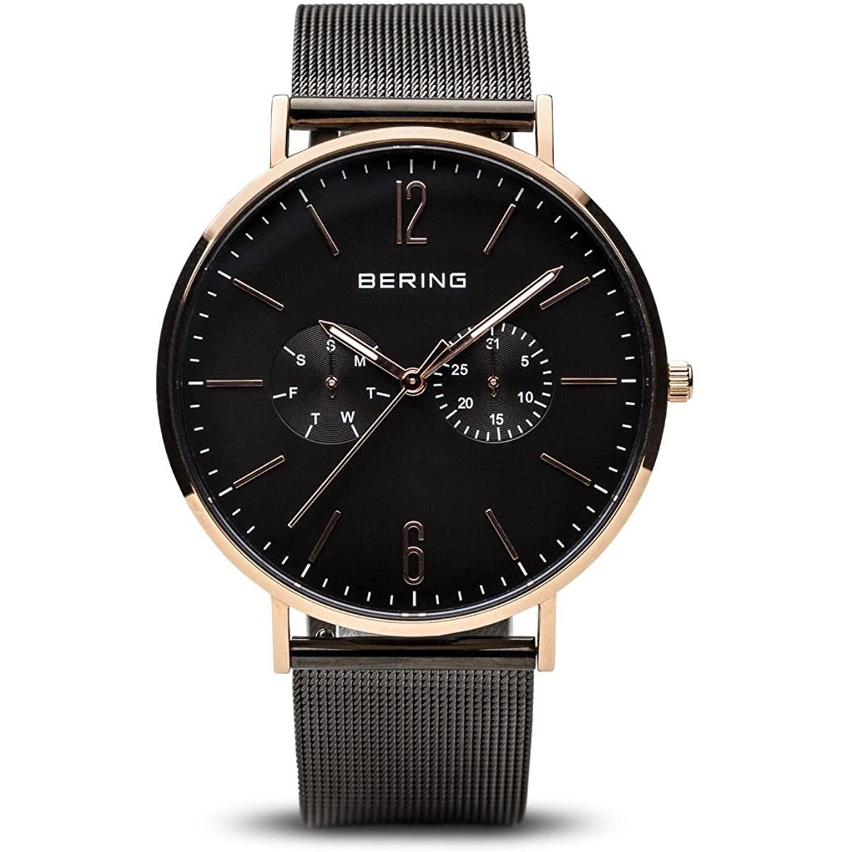 BERING-Herren-Analog-Quarz-Uhr-mit-Edelstahl-Armband-14240-163