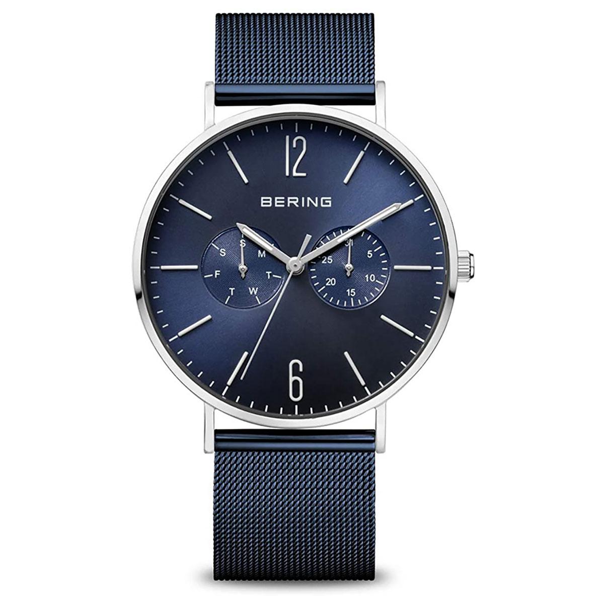 BERING-Herren-Analog-Quarz-Uhr-mit-Edelstahl-Armband-14240-303