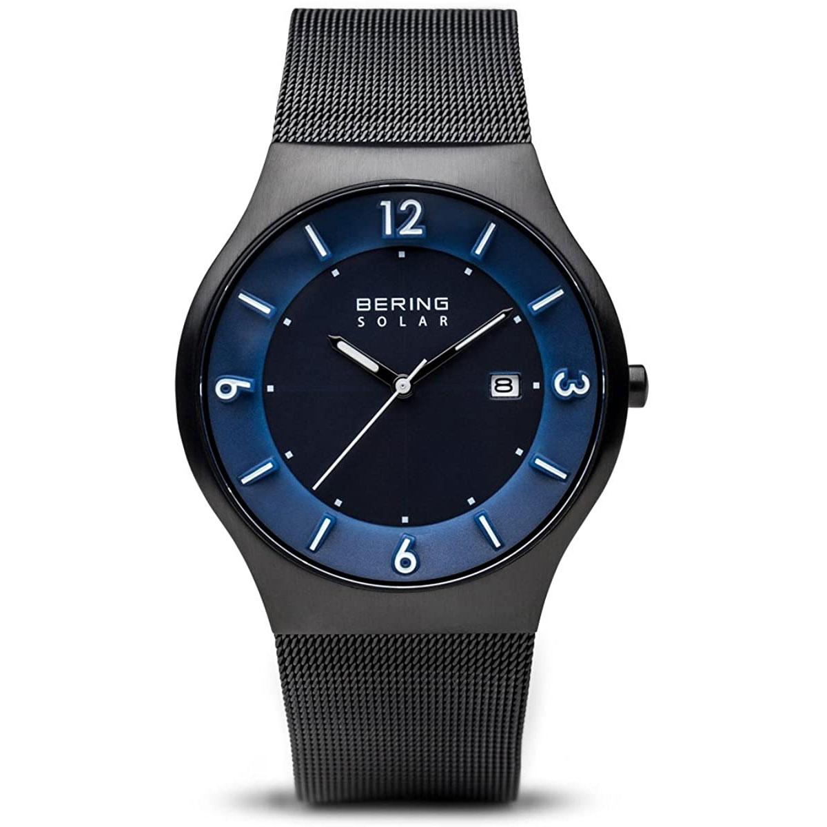 Bering-Herren-Analog-Solar-Uhr-mit-Edelstahl-Armband-14440-227