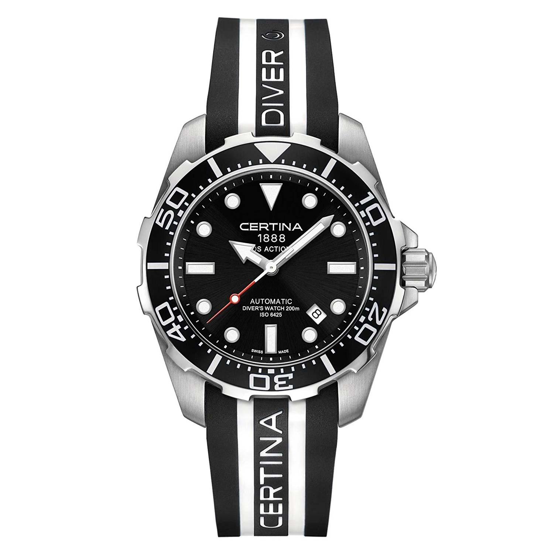 Certina-DS-Action-Diver-Automatic-C013.407.17.051.01-robuste-Taucheruhr-mit-Kautschukarmband