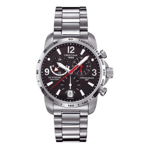 Certina-DS-Podium-Chronograph-GMT-Certina-C0016391105700-sportliche-Herrenuhr-mit-316L-Edelstahl