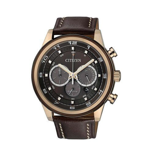 Citizen-Eco-Drive-Sports-Chrono-CA4037-01W-Herren-Chronograph-in-Braun-und-Rose-Gold