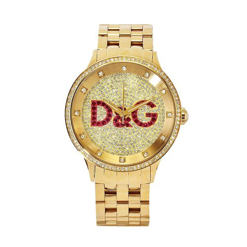 Dolce-&-Gabbana-goldene-Armbanduhr-DW0377-mit-Quarzuhrwerk-1