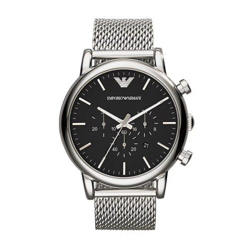 Emporio-Armani-AR1808-Chronograph-mit-Metall-Mesh-Armband