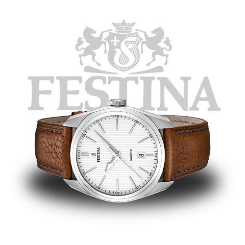 Festina-Herrenuhr-F16777-1-Braun-Silber