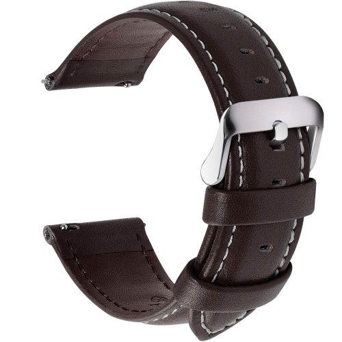 Fullmosa-Uhrenarmband-aus-dunkelbraunem-Leder-22-mm-breit-mit-Uhrenwerkzeug