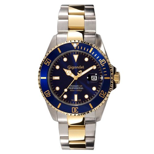Gigandet-G2-001-Sea-Ground-Herren-Automatikuhr-in-Blau-Gold-Silber-edle-Taucheruhr