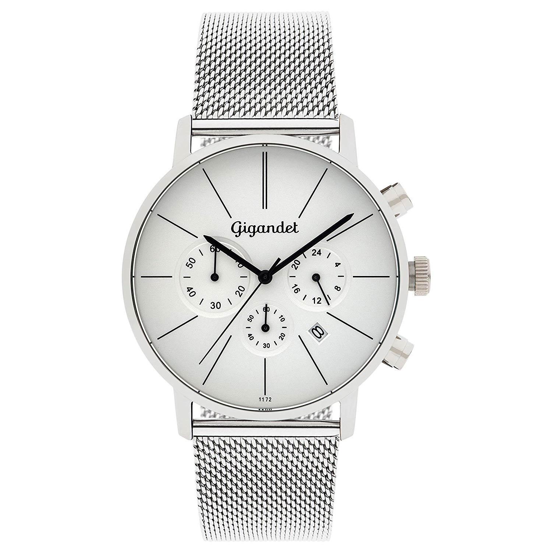 Gigandet-G32-005-Minimalism-Herren-Chronograph-in-Silber-mit-Mesh-Armband-aus-Edelstahl