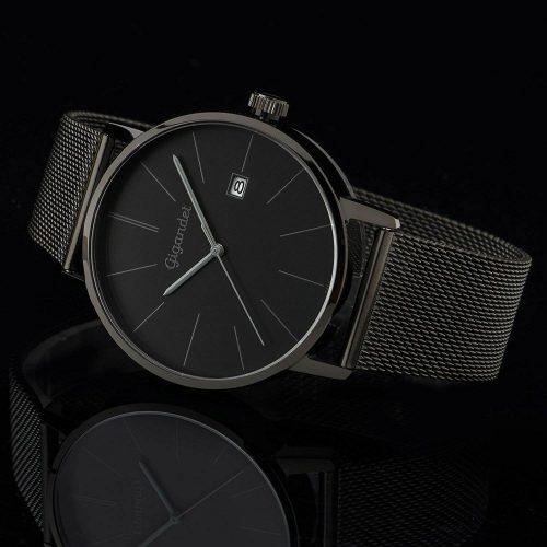Gigandet-G42-007-Minimalism-schwarze-Herrenuhr-Black-Edition