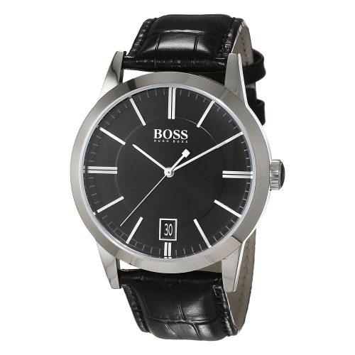 Hugo-Boss-1513129-Herren-Business-Uhr-edle-Dresswatch-in-Schwarz-Silber