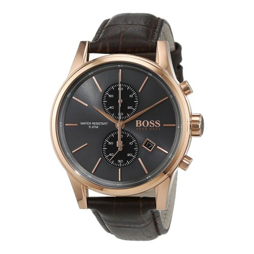 Hugo-Boss-1513281-Herrenuhr-mit-Chronographen-in-Rosegold-und-Braun