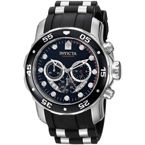 Invicta-Chronograph-mit-Kautschukarmband-XL-Armbanduhr-für-Maenner-1