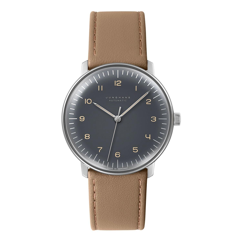 Junghans-Max-Bill-Automatic-027-3401-00-Armbanduhr-mit-Kalbsleder-1