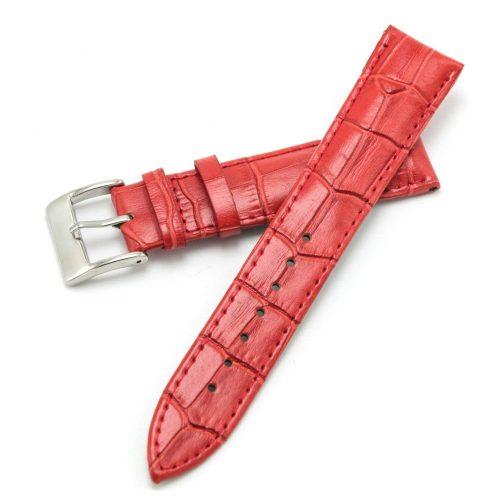 Rotes-Uhrenarmband-aus-echtem-Kalbsleder-von-CIVO-mit-Kroko-Praegung-und-Edelstahlschliesse