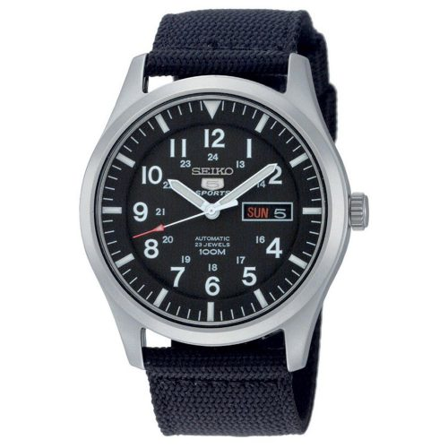 Seiko-5-Sport-SNZG15K1-Armbanduhr-mit-Hardlex-Glas-und-Nylon-Armband