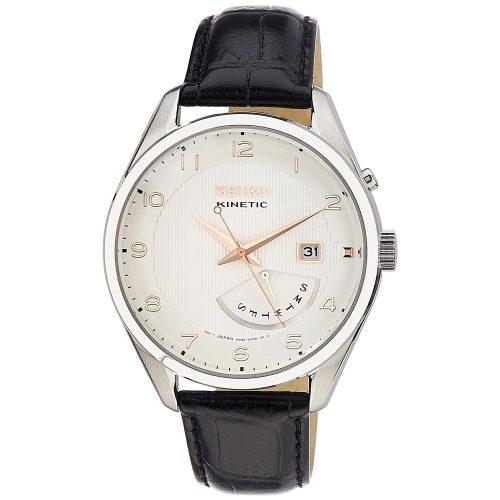 Seiko-Kinetic-SRN049P1-Herrenuhr-Business-Uhr-mit-Lederarmband-und-retrograder-Datumsanzeige