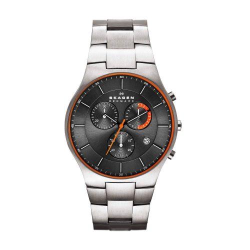 Skagen-Balder-SKW6076-Chronograph-Titanuhr-Silber-Schwarz-Orange
