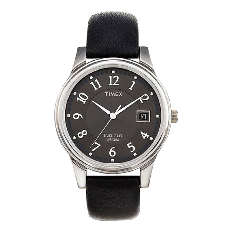 Timex-Easy-Reader-T29321-Herren-Armbanduhr-in-Schwarz-Silber